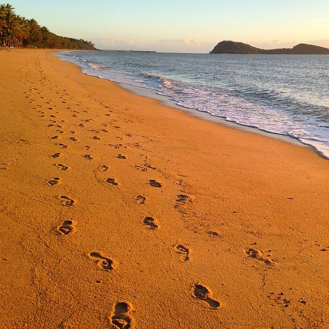 "Day 4/30 #FGSpringFit started the day with a morning walk on the beach and meditationToday's thought ""It is your journey, create your own footprints in the sand"""