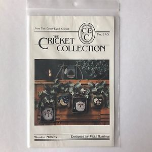 Christmas Woolen Mittens Cross Stitch Chart Pattern by Cricket Collection No 143    eBay