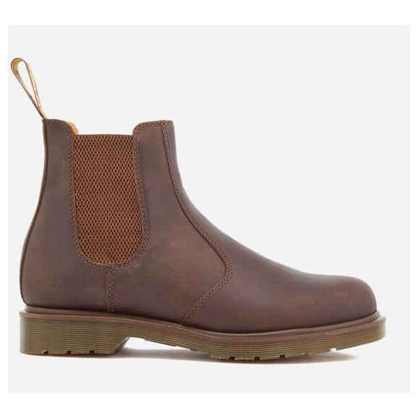 Dr. Martens Men's Core 2976 Leather Chelsea Boots - Gaucho (€150) ❤ liked on Polyvore featuring men's fashion, men's shoes, men's boots, gaucho, mens leather boots, dr martens mens boots, mens leather chelsea boots, mens brown boots and mens brown leather boots