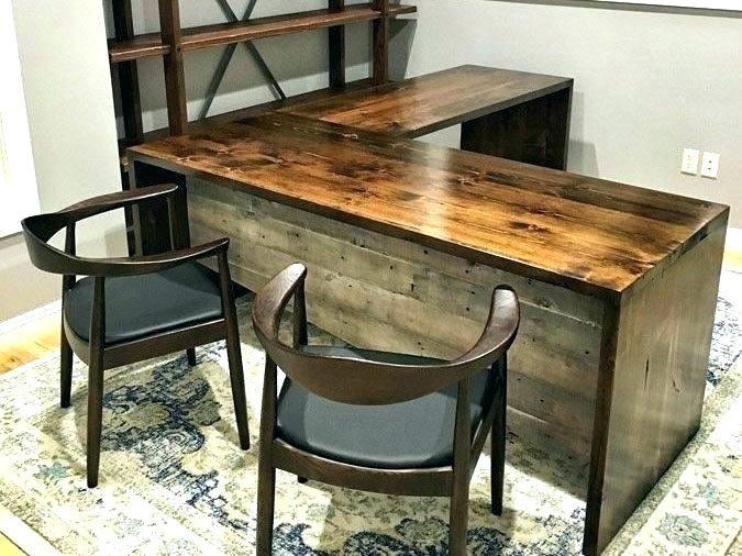 Wood L Shaped Office Desk Desks U L Shaped Office Desk Rustic