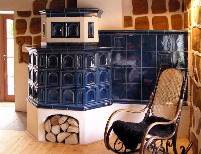 Kachlová kamna - Czech ceramic tile woodstove