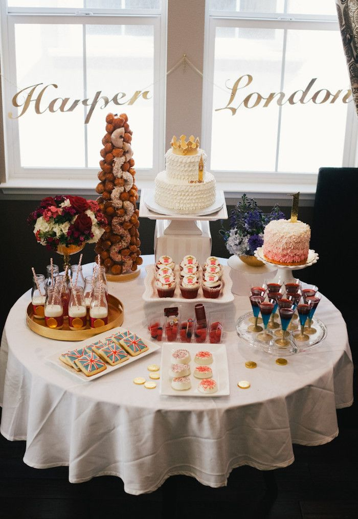 royal london birthday party ideas decorations and food dessert table