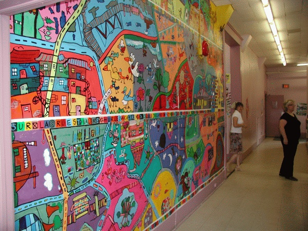 1000 images about school mural ideas on pinterest for Ecole d art mural