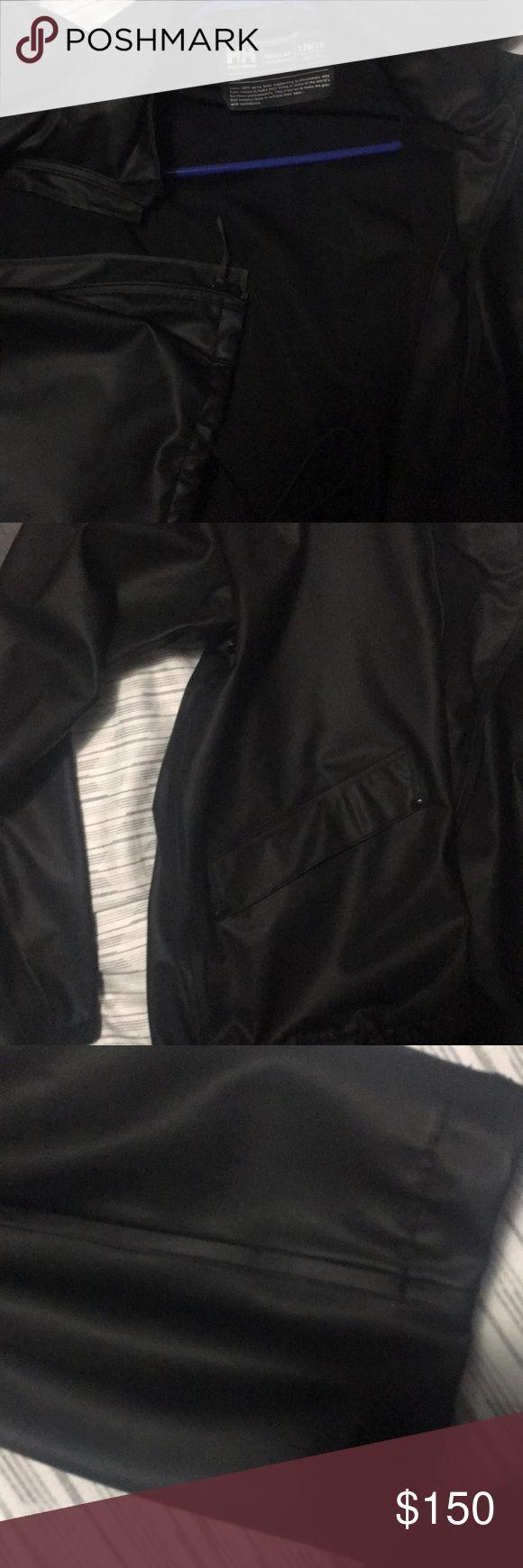 Helly Hansen Black n silver writing Helly Hansen Jackets & Coats Raincoats