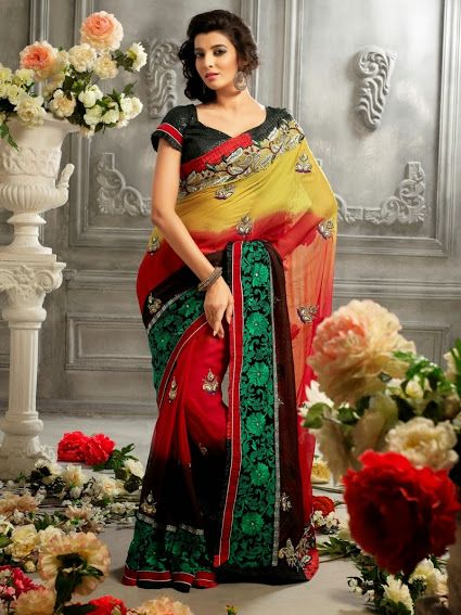 2316. Conventional Georgette Saree   INR 4400/-