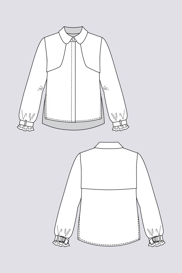 Helmi Trench Blouse - Named