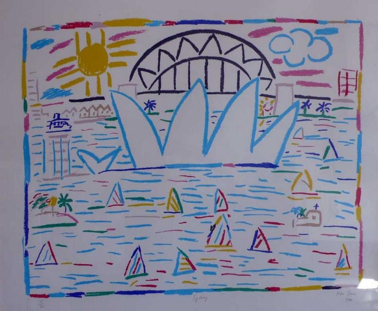 Ken Done, lithograph 15/50, 'Sydney', signed and dated 1983