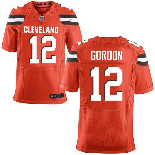 $24.99 Nike Elite Josh Gordon Orange Men's Jersey - Cleveland Browns #12 NFL Alternate
