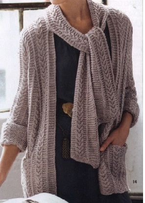 Cabled Cardi and Scarf - Vogue 2011-2012 - Winter