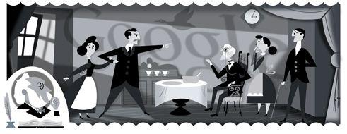 185 aniversario del nacimiento de Henrik IbsenDoodleando, Los Logos de Google