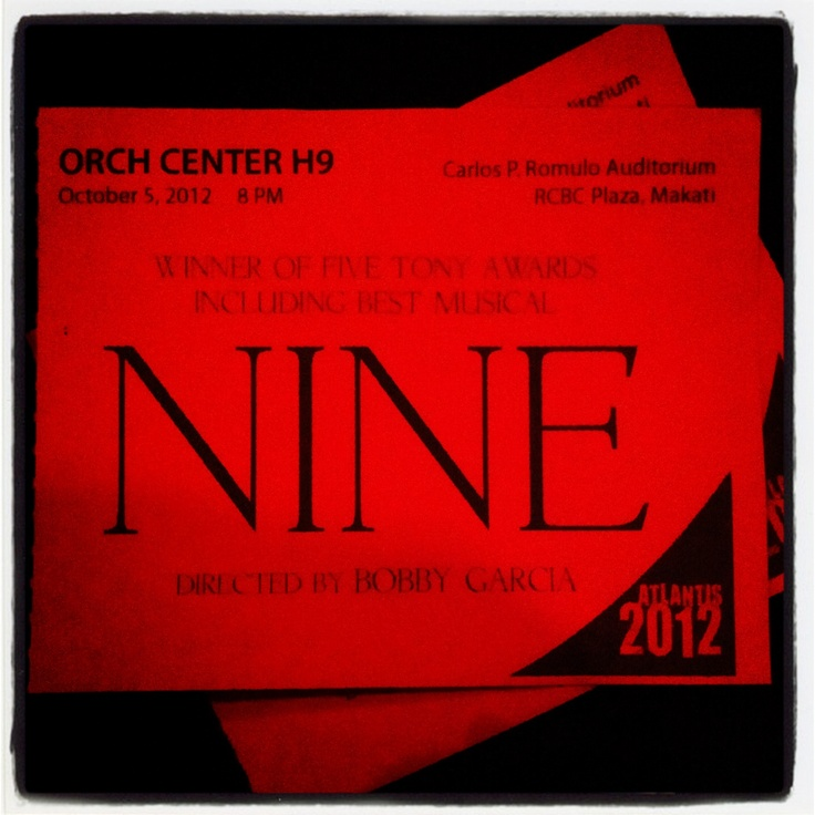 NINE. 100512. Best Musical Play (Tony Awards)