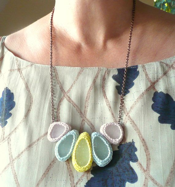 """I first noticed Etsy artist Asta because of her the stunningly unique sea glass crochet jewelry she sells in her store called """"astash""""."""