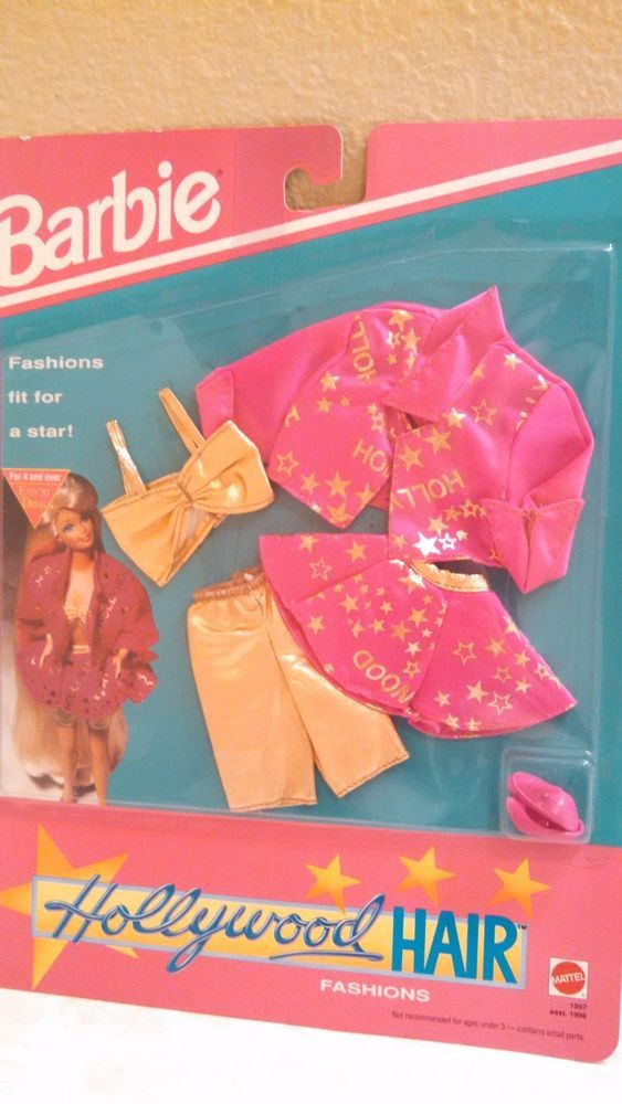 New 1992 Barbie Hollywood Hair Fashions Pack 1997 Easy to Dress by Mattel   eBay