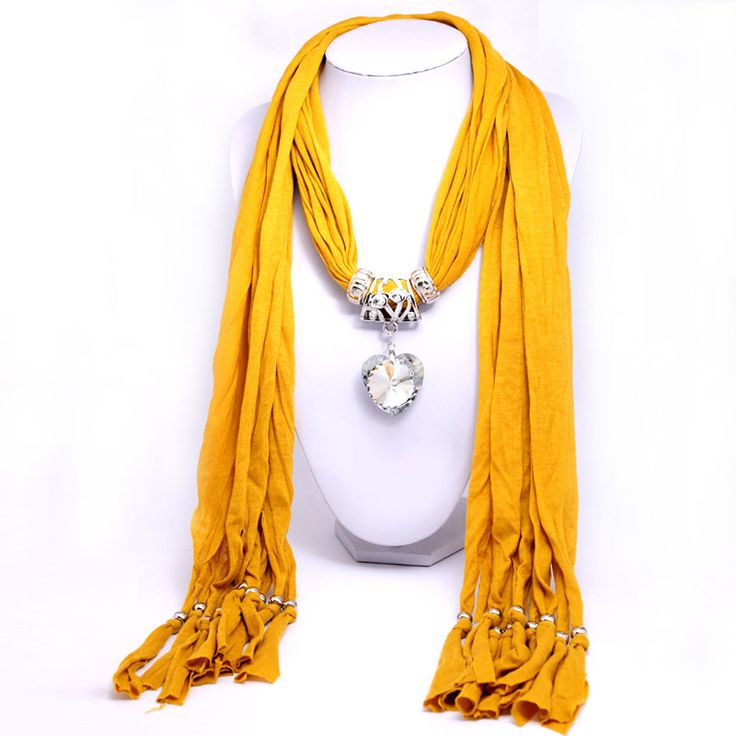 #Yellow #Scarf Heart #Pendant #Necklace At Just Rs.649 From #Trendymela. We offer free shipping and Cash on Delivery (COD) all over the India.