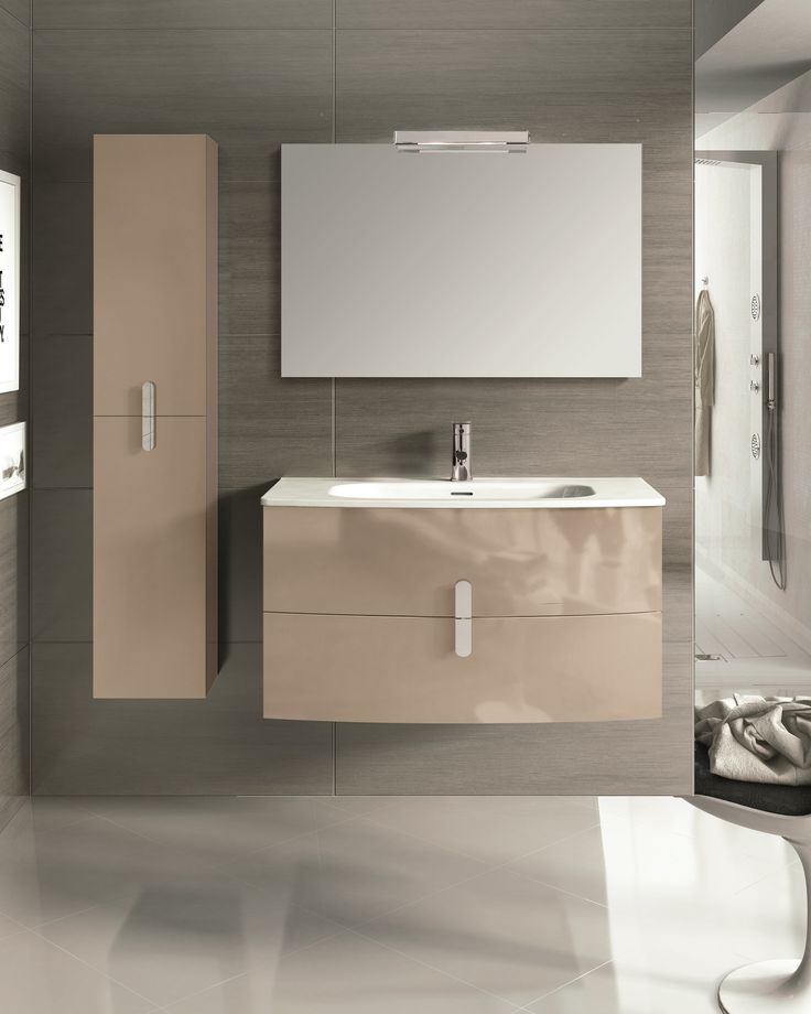 """Eviva Round 39"""" Wall Mount Brown Modern Bathroom Vanity with White Integrated Porcelain Sink is one the finest wall mounted bathroom vanities in the U.S. Market, Sold exclusively to Eviva. Round is sh"""