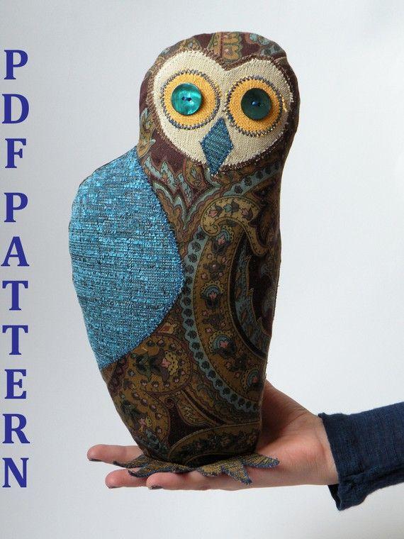 Wise Owl Sewing Pattern Tutorial PDF Digital di BlueTerracotta