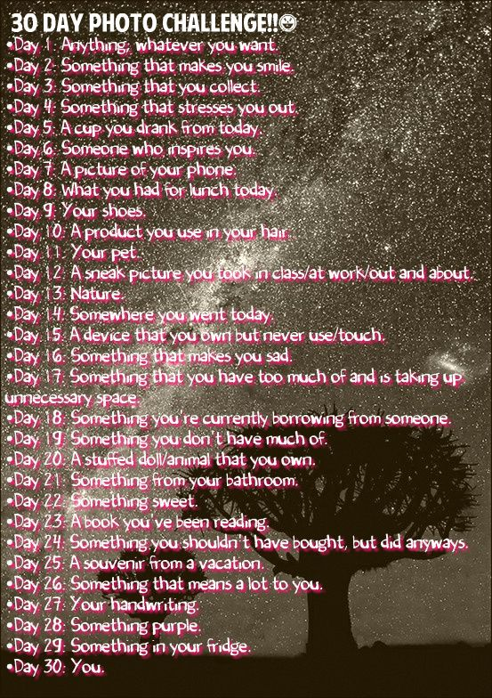 30 day photo challenge...maybe to do in a smash book?