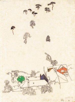 egon schiele houses and pines modling schiele egon 1890 1918 1890 House Map egon schiele houses and pines modling