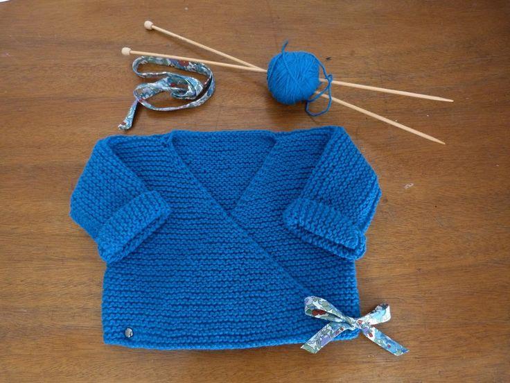 Le cache coeur pour bébé tricoté