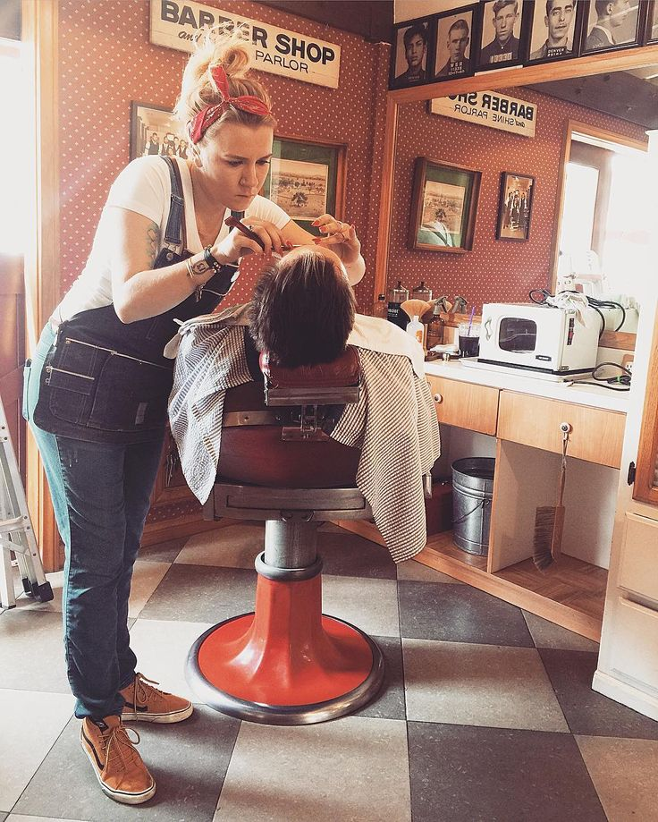 195 Best In The Barber Chair Girls Get Cut Or Shaved