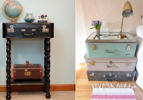 Creative ways of reusing old suitcases!