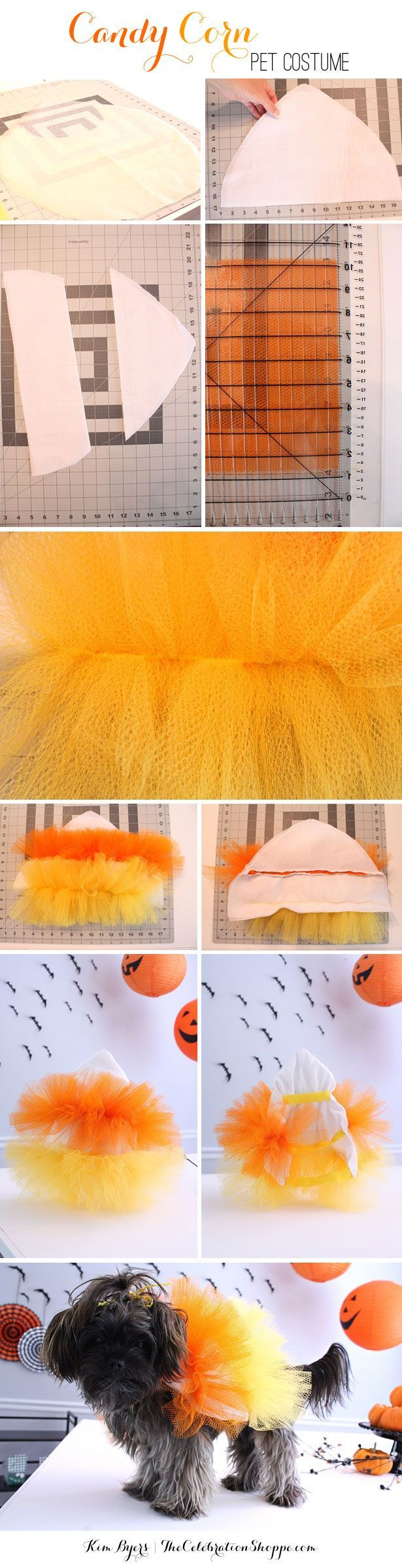 DIY Halloween Pet Costume – Make A Candy Corn Tutu