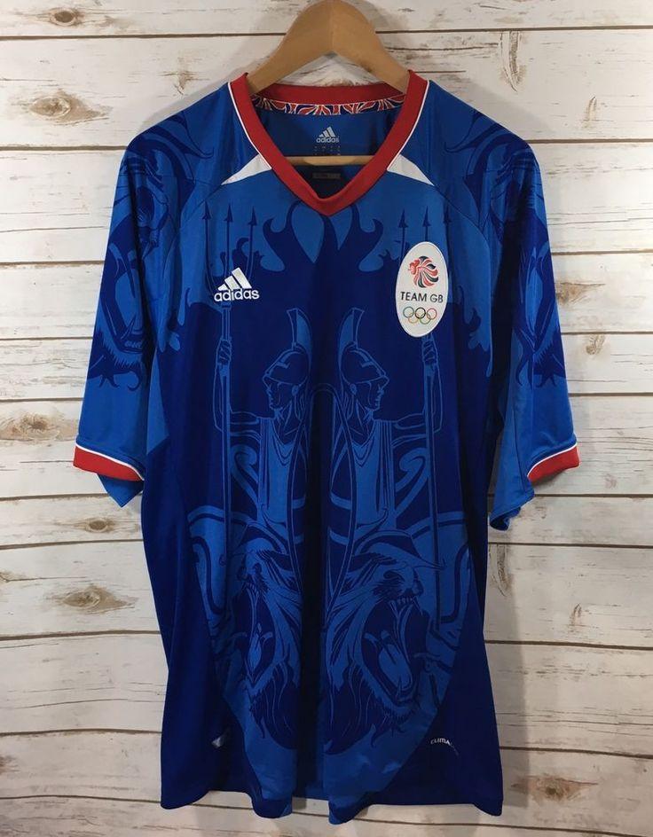 Adidas 2012 London Olympics Team GB/Great Britain Soccer Jersey Mens XL Blue  | eBay