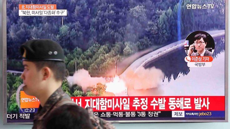 """North Korea launches projectile into sea, South Korea's military says Sitemize """"North Korea launches projectile into sea, South Korea's military says"""" konusu eklenmiştir. Detaylar için ziyaret ediniz. http://www.xjs.us/north-korea-launches-projectile-into-sea-south-koreas-military-says.html"""