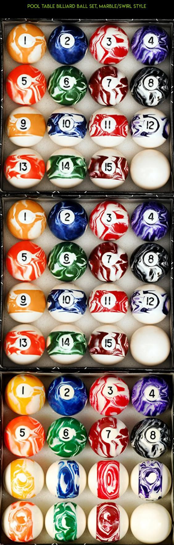 Pool table legs accessories for sale - Pool Table Billiard Ball Set Marble Swirl Style Technology Balls Racing