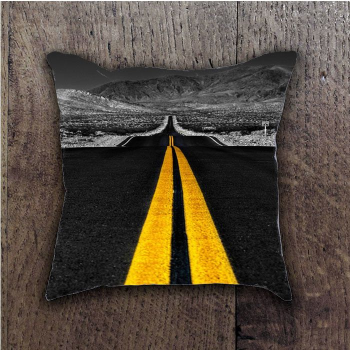 ROAD YELLOW LINES BATHROOM PILLOWS