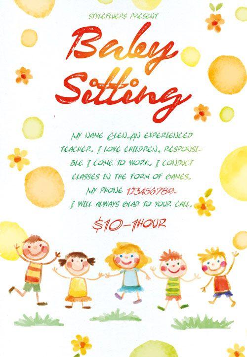 Best 20+ Babysitting Flyers Ideas On Pinterest   Babysitting
