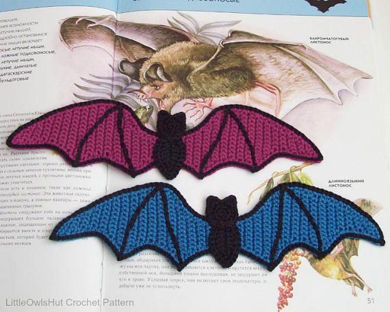 Crochet a Quick Halloween Decoration: This Brilliant Bat Motif Looks Illustrated!