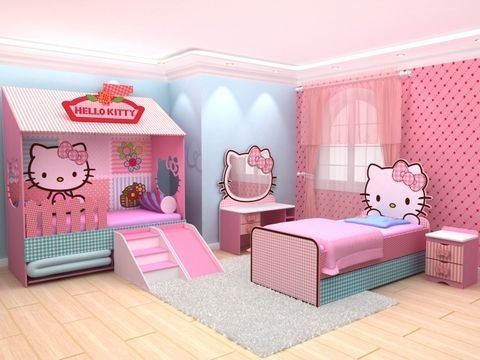 Cute hello kitty room                                                                                                                                                                                 More