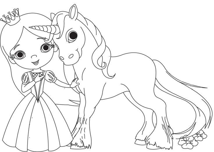 Ausmalbild Prinzessin Kostenlose Malvorlage Prinzessin