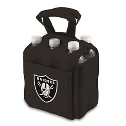 Oakland Raiders 6-Pack Cooler Caddy Tote