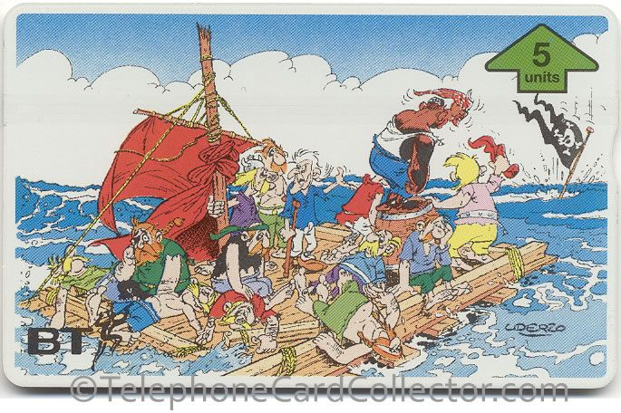 BTG620 - BT Phonecard - Asterix (4) - Pirate's Shipwreck