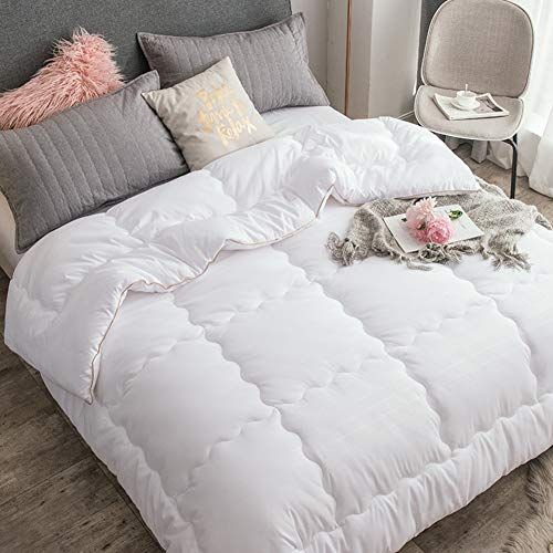 Myz Bz Solid Color Quilted Comforters Thick Warm Hypoallergenic