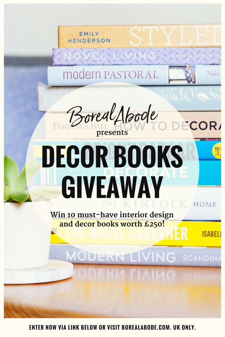 To celebrate the launch of Boreal Abode, I'm organising a juicy giveaway! The blog is about mid-century design, home decor and interiors. So, I put together my top 10 must-have interior design and decorating books. The best resource for inspiration and ideas!  The giveaway includes 10 fantastic books worth £250. Don't miss it!   T&C's apply. Over 18 and UK only.