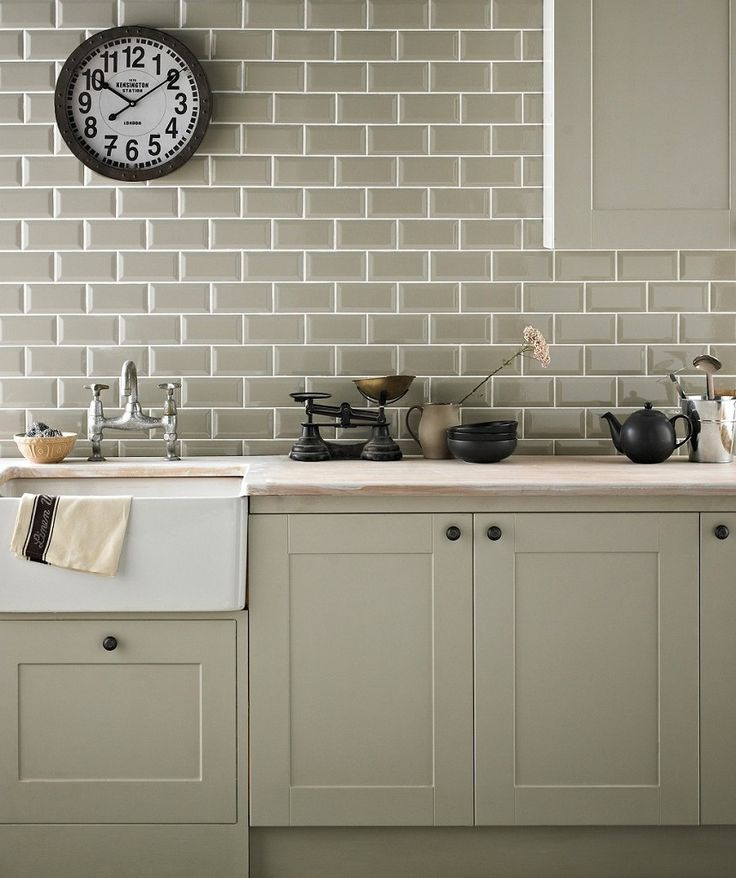 Tile On Kitchen Wall: Chartwell Sage