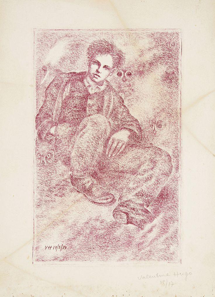 1937 ~ Valentine Hugo (1887-1968) ~ Rimbaud aux chouettes