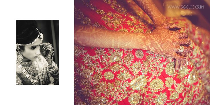 The details of beautiful wedding lehenga and mehendi . Bride getting ready for the indian rajasthani wedding. #blackandwhite #sgclicks #ashusheel #mehendi #lehenga #hands #bride
