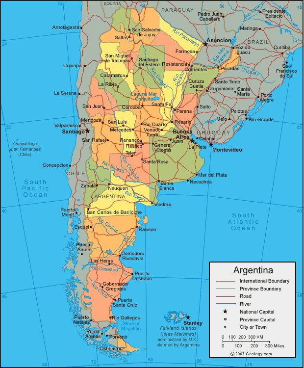 Best South American Federation Images On Pinterest South - Argentina map for sale