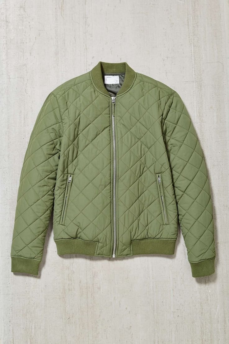 Your Neighbors Devon Quilted Bomber Jacket Urban
