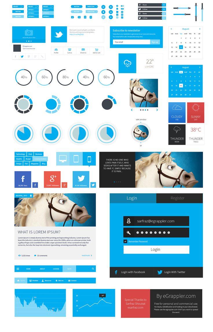 Metro Style Free Flat UI Kit