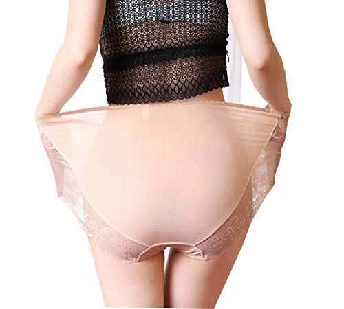 7a20121751 Women Panties Plus Size Underwear 5-Pack Sexy Lace Briefs Quick Dry ...