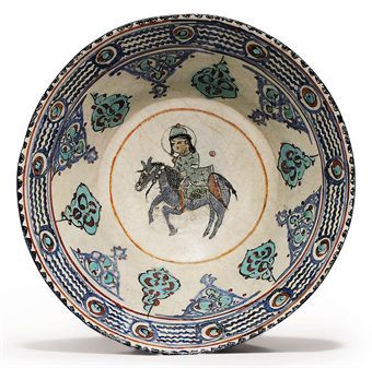 A MINA'I POTTERY BOWL  SELJUK IRAN, LATE 12TH/EARLY 13TH CENTURY