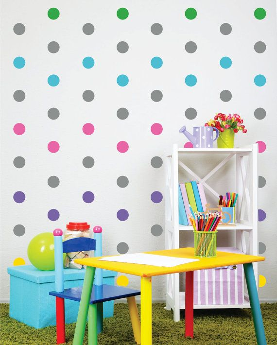 Polka Dot Wall Decals  Peel and Stick Wall decals  by LucyLews