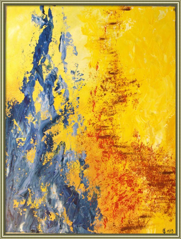 Flammentanz - Ölmalerei