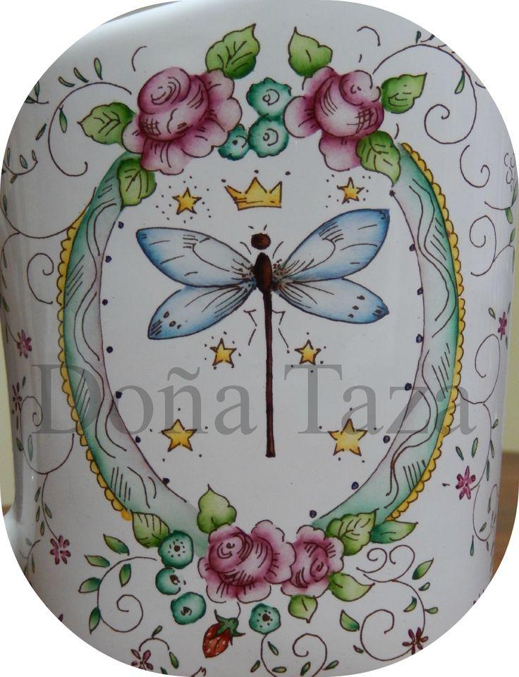 FACEBOOK/DOÑATAZA pintado a mano This is lovely