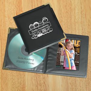 Great idea for Preschool and Elementary teachers looking for a gift for students and parents at the end of the year!! I would love getting one of these for my child!    Save photos from the year to a CD then present each child with one in these cute cases imprinted with your school or child care center's name!